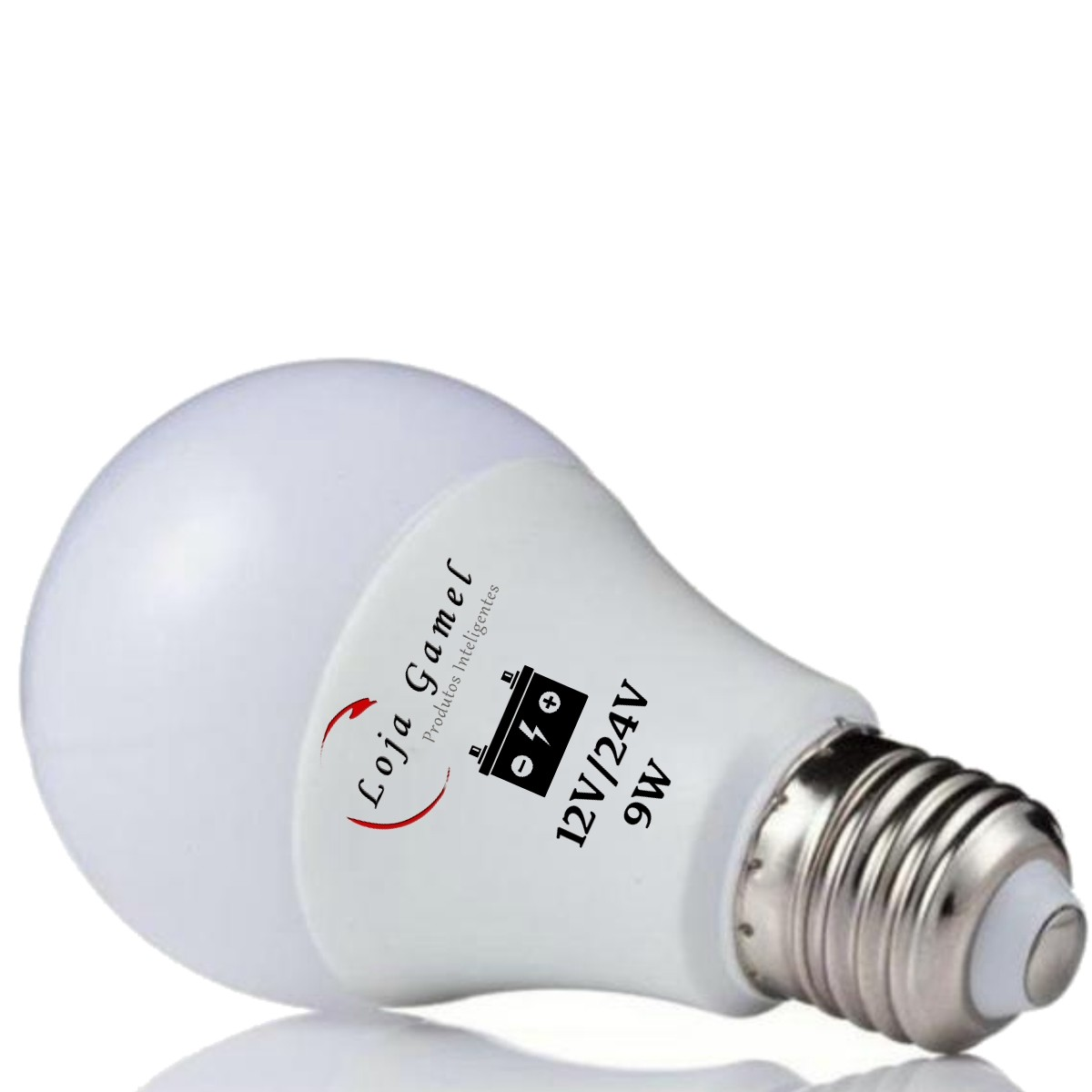 Foto2 - Lâmpada Led Bateria 12V / 24V - 9W 800 Lumens Kit 5Un