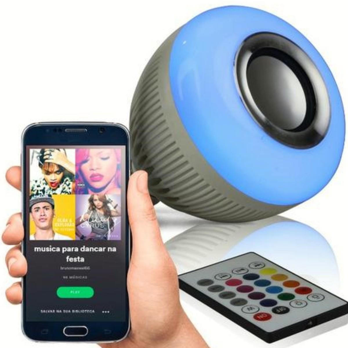Foto2 - Lâmpada Led Bluetooth Music Bulb Kit 3Un