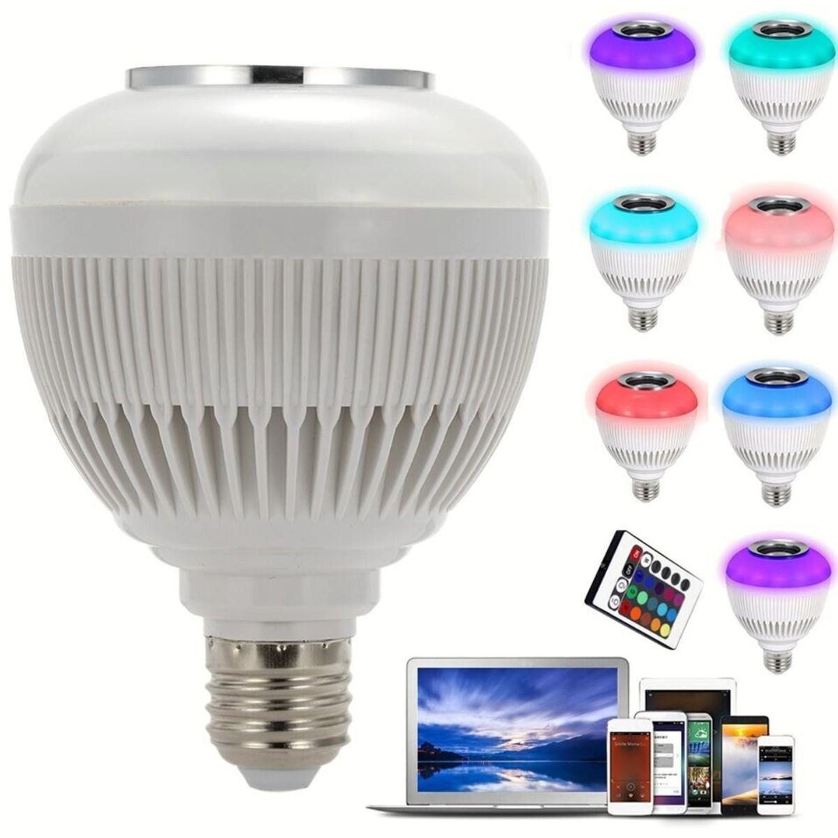 Foto4 - Lâmpada Led Bluetooth Music Bulb Kit 3Un