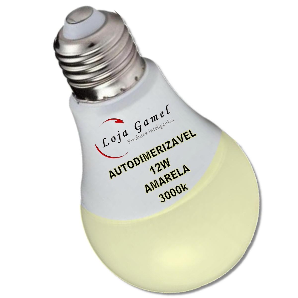 Foto3 - Lâmpada LED Bulbo Autodimerizável 12W Luz Amarela 3000K 10un