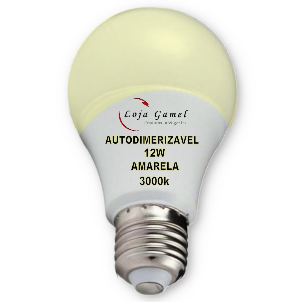 Foto3 - Lâmpada LED Bulbo Autodimerizável 12W Luz Amarela 3000K Kit 6un