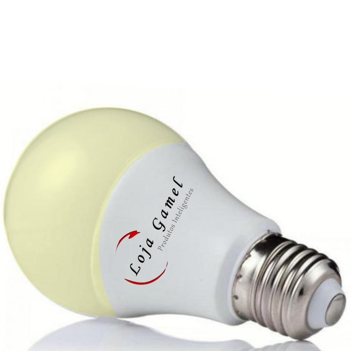Foto7 - Lâmpada LED Bulbo Autodimerizável 12W Luz Amarela 3000K Kit 9un