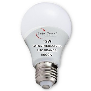 Foto5 - Lâmpada LED Bulbo 12w Autodimerizável Luz Branca 6000K Kit 9un