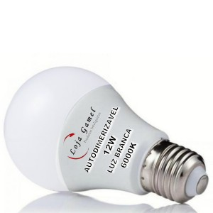 Foto2 - Lâmpada LED Bulbo 12w Autodimerizável Luz Branca 6000K Kit 9un