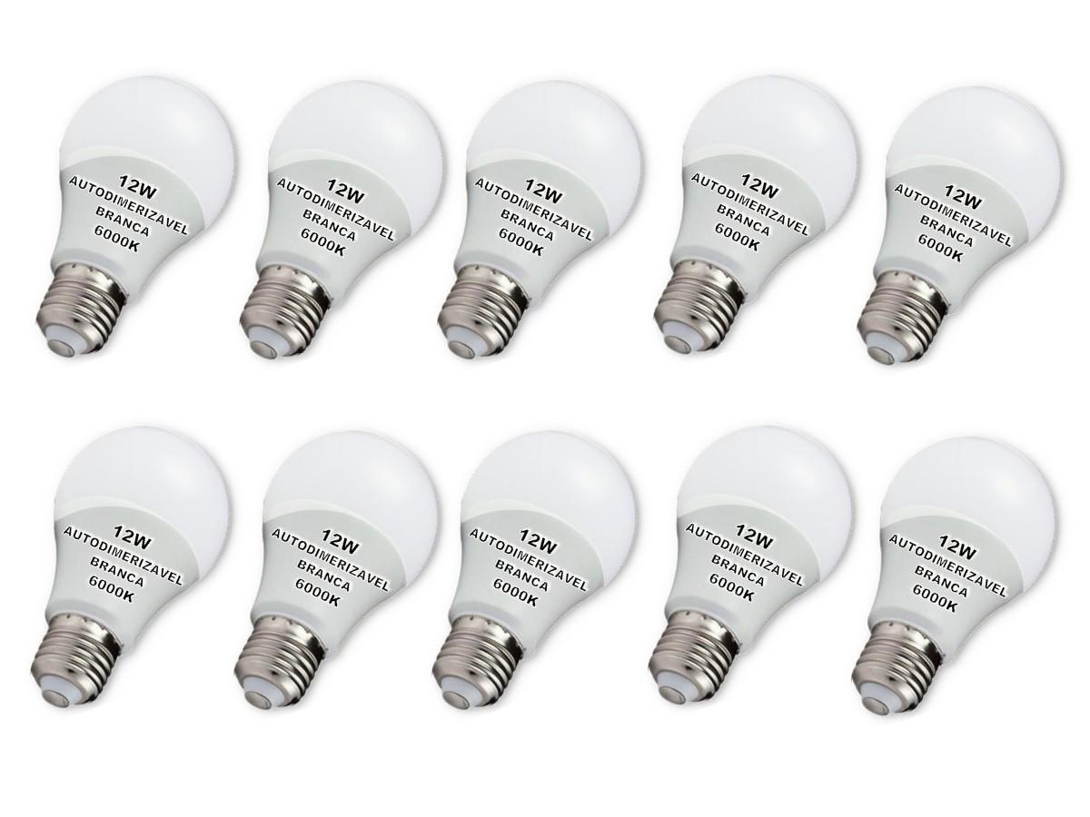 Foto 1 - Lâmpada LED Bulbo Autodimerizável 12W Não Precisa de Dimmer Kit 10un