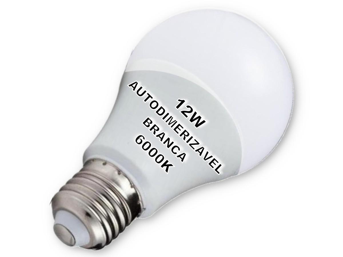 Foto2 - Lâmpada LED Bulbo Autodimerizável 12W Não Precisa de Dimmer Kit 10un