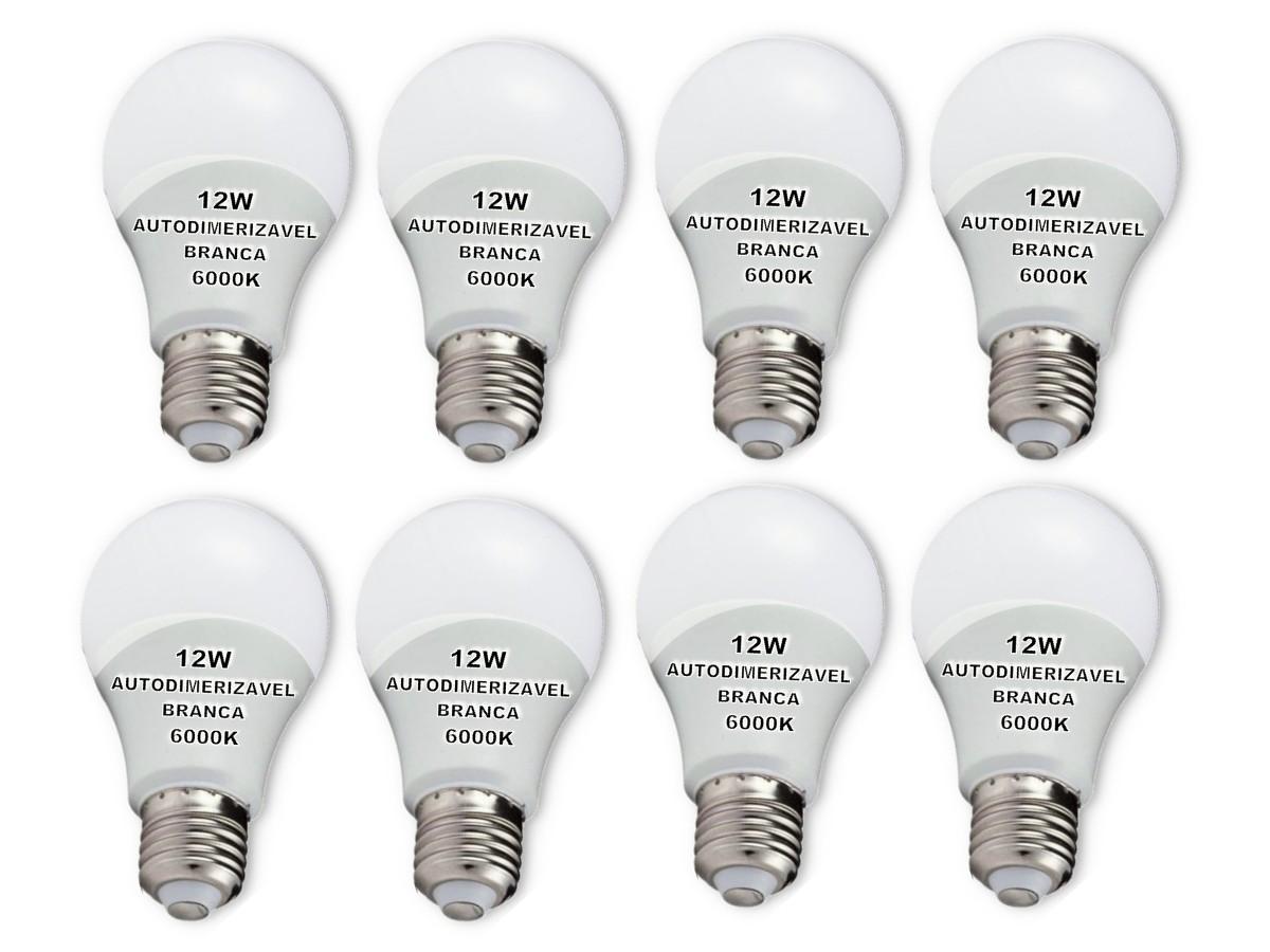 Foto 1 - Lâmpada LED Bulbo Autodimerizável 12W Não Precisa de Dimmer Kit 8un