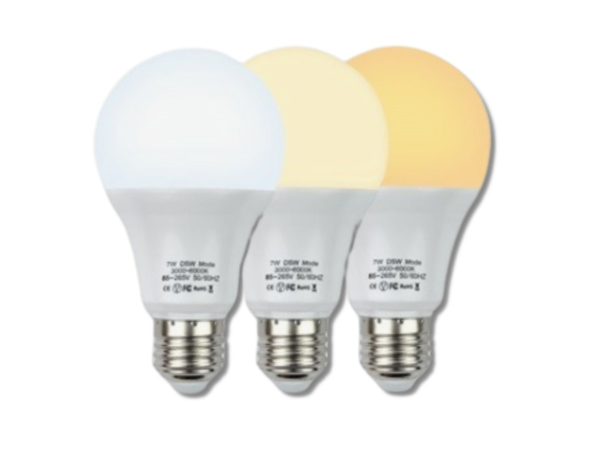 Foto2 - Lâmpada Led Inteligente 3 Cores em 1 Lâmpada Branca Amarela Neutro Kit 2Un