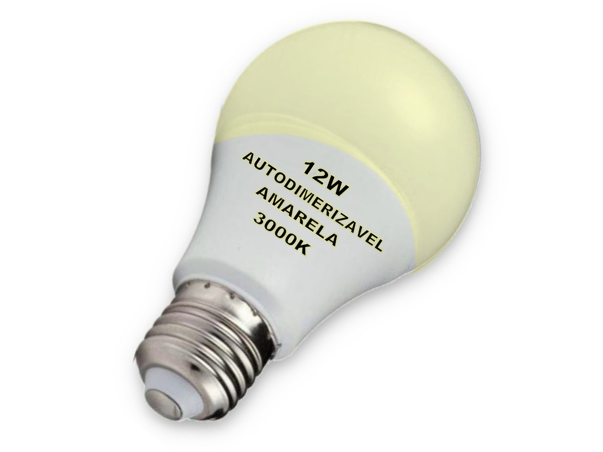 Foto 1 - Lâmpada Led Inteligente Bulbo Autodimerizável 12W Amarela