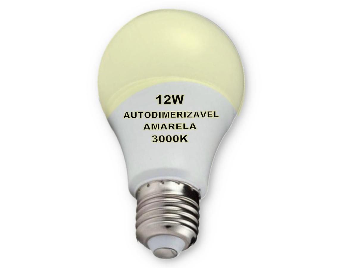 Foto2 - Lâmpada Led Inteligente Bulbo Autodimerizável 12W Amarela