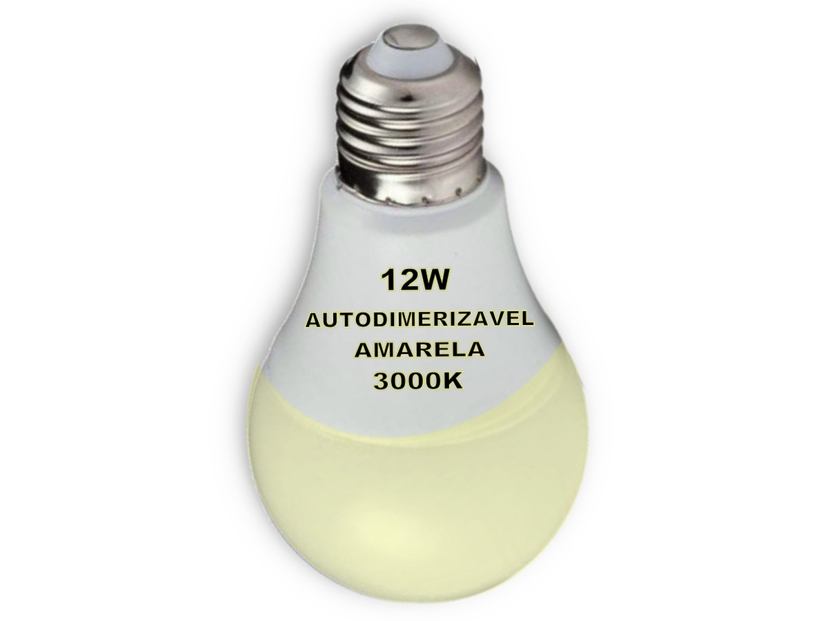 Foto3 - Lâmpada Led Inteligente Bulbo Autodimerizável 12W Amarela