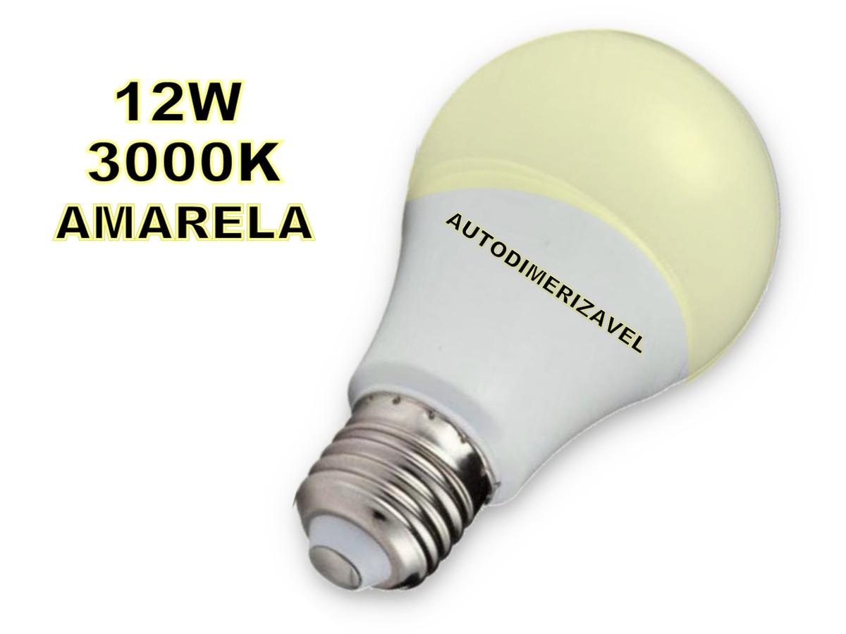 Foto5 - Lâmpada Led Inteligente Bulbo Autodimerizável 12W Amarela