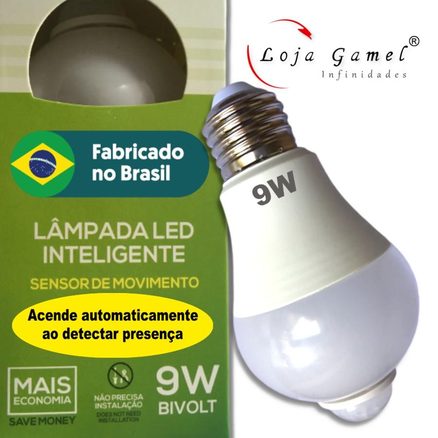 Foto 1 - Lâmpada Led Inteligente com Sensor de Movimento 9W