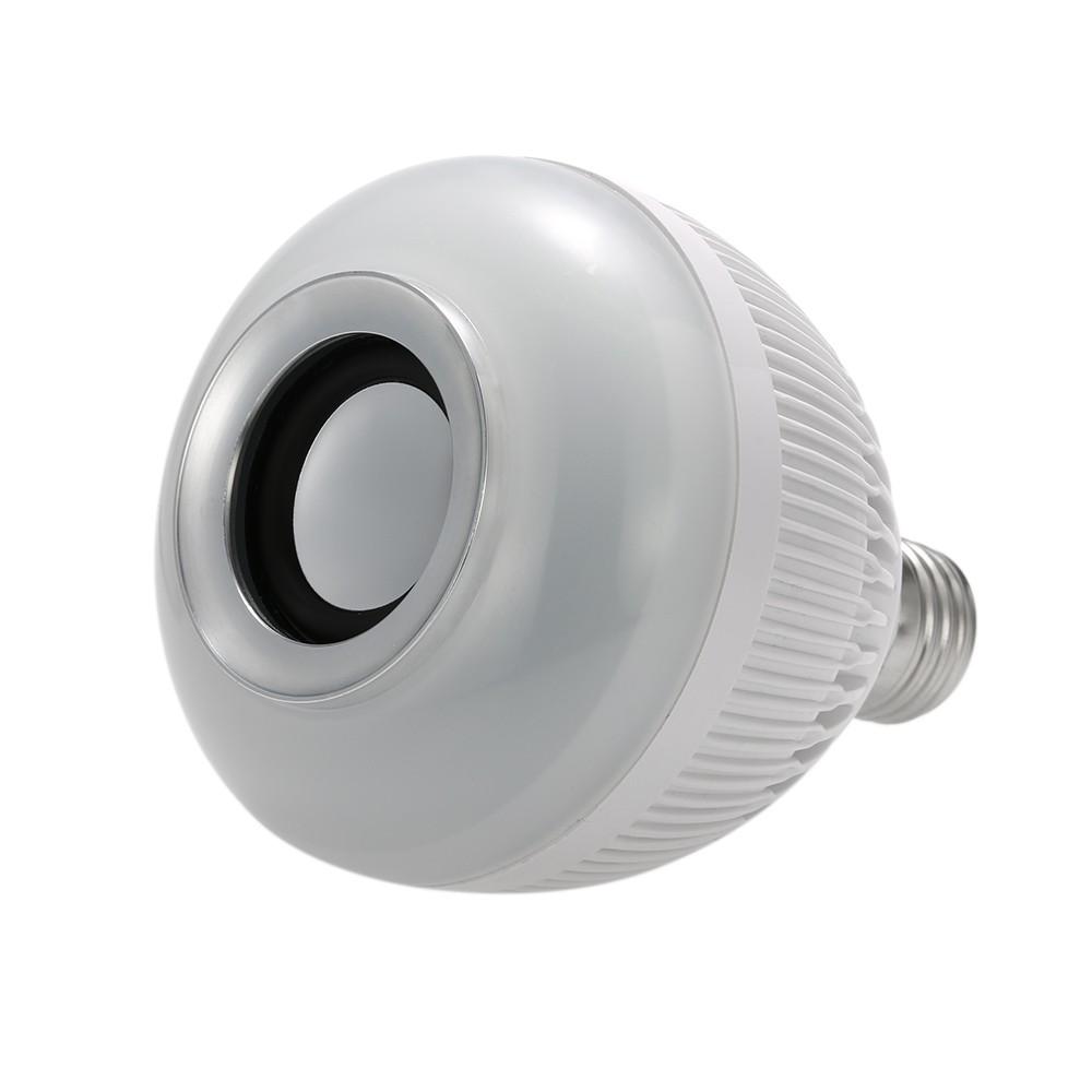 Foto2 - Lâmpada LED Toca Música Bluetooth RGB Muda de Cor Controle Remoto