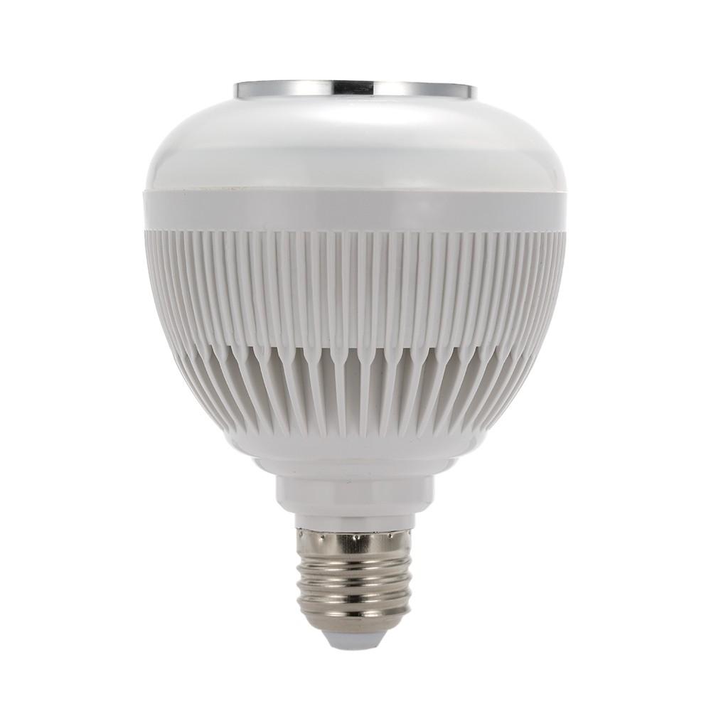 Foto3 - Lâmpada LED Toca Música Bluetooth RGB Muda de Cor Controle Remoto