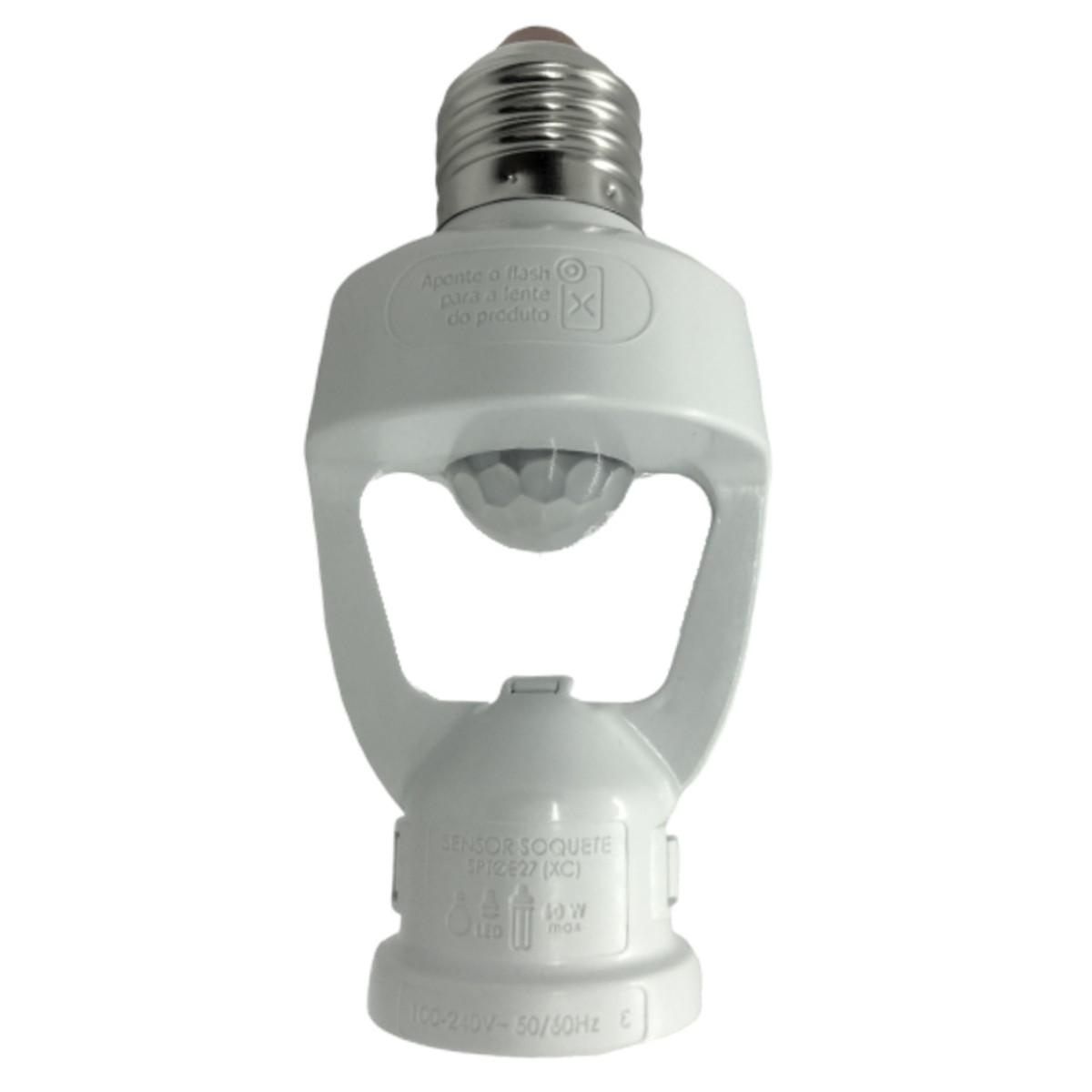 Foto4 - Sensor de Presença Soquete E27 XControl Ajuste de Tempo pelo APP Kit 5Un