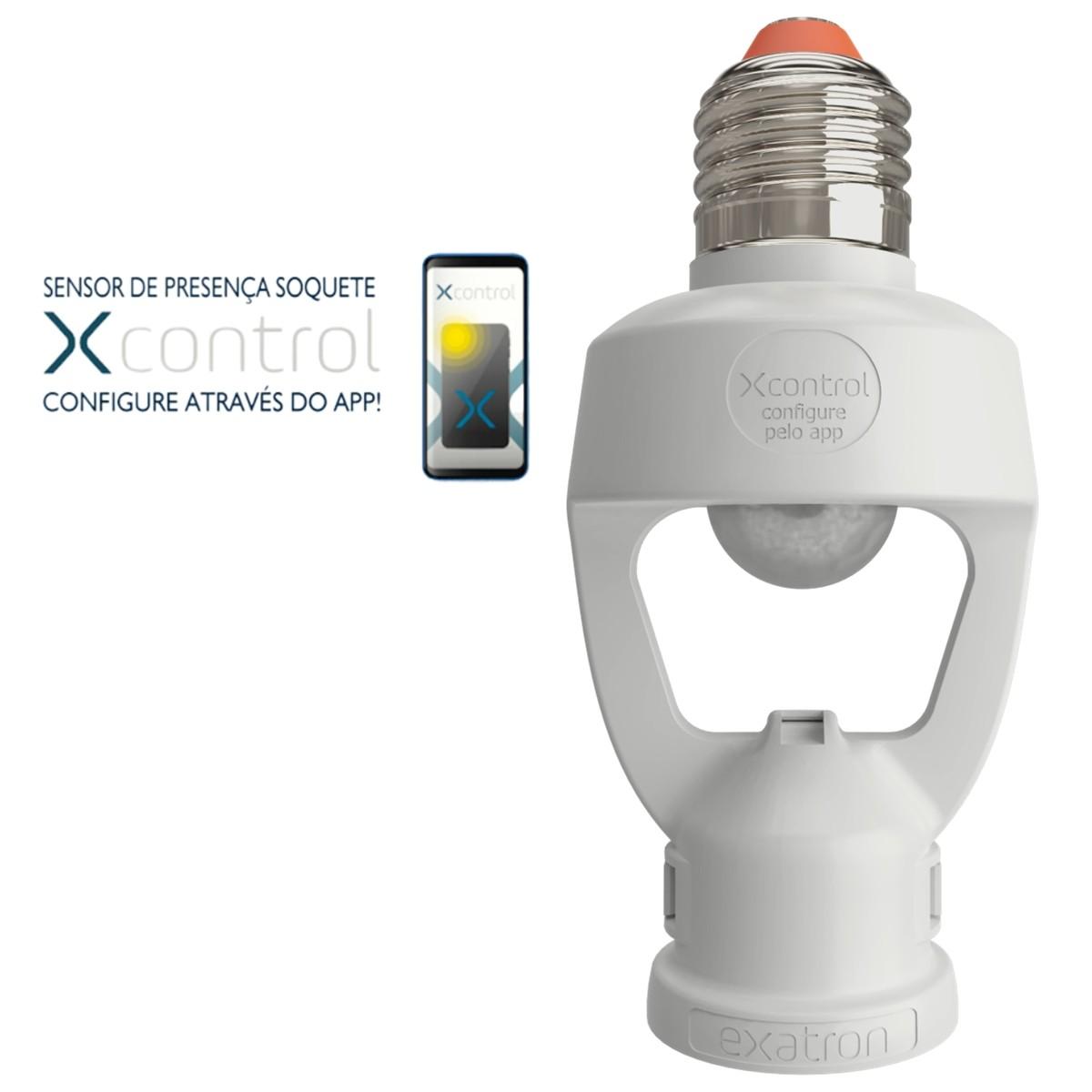Foto2 - Sensor de Presença Soquete E27 XControl Ajuste de Tempo pelo APP Kit 5Un