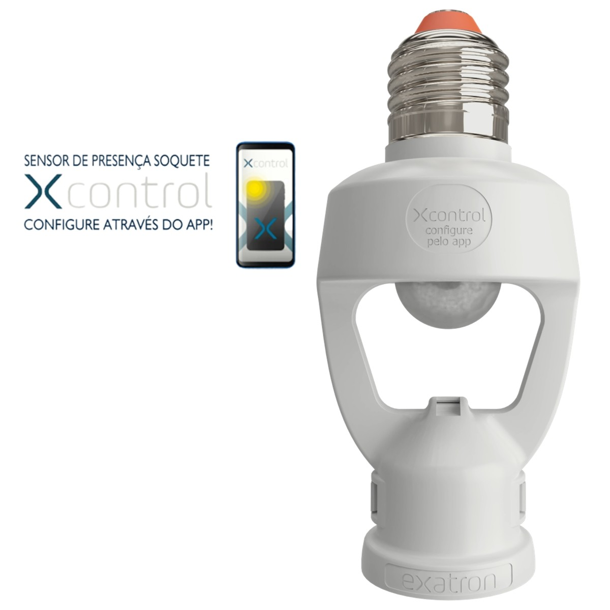 Foto 1 - Sensor de Presença Soquete E27 XControl Ajuste de Tempo pelo App