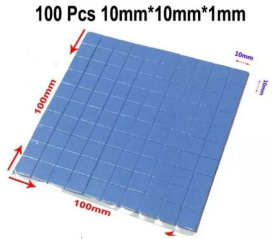 Foto 1 - 100x Thermal Pad Termico Dissipador Chipset Memori 10x10x1mm
