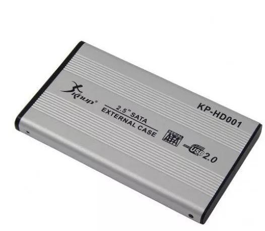 Foto 1 - Case para Hd de notebook, transformar em Externo 2,5 Sata Usb 2.0 Gaveta Aluminio