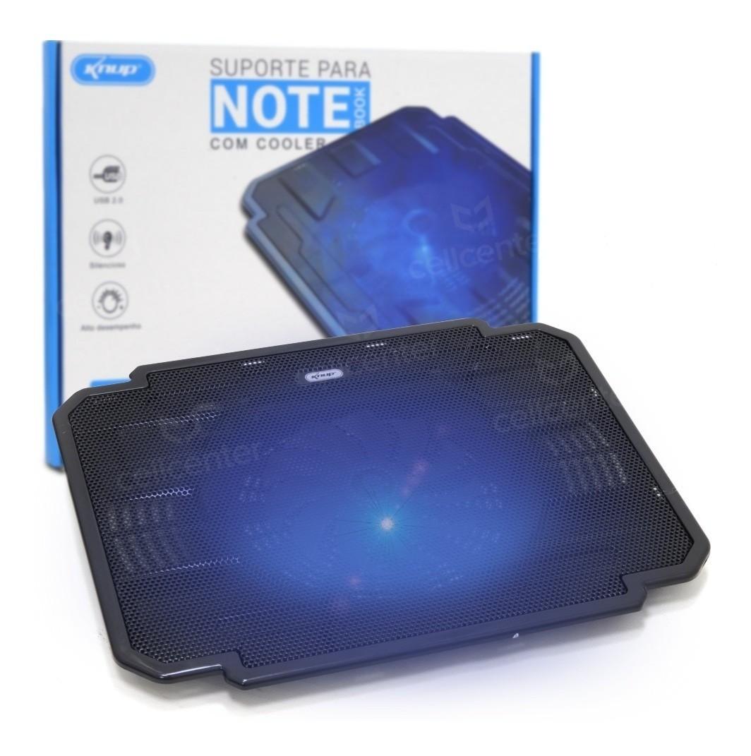 Foto2 - Suporte Para Notebook Até 17 Cooler Led 700rpm Knup Kp-9012