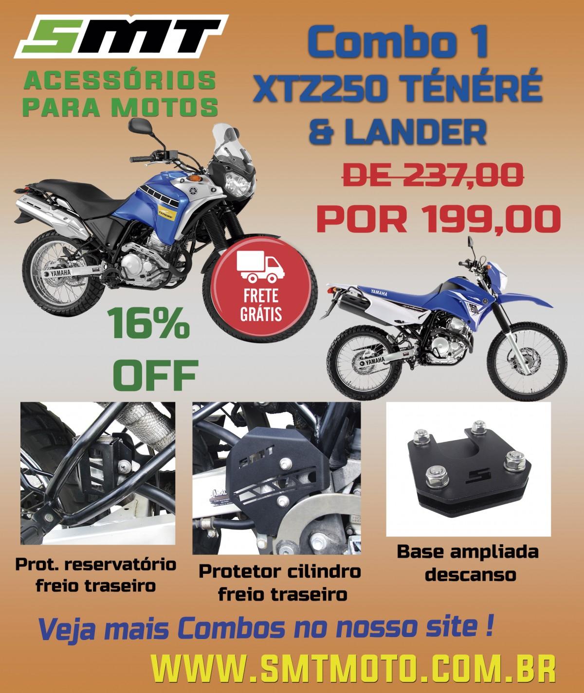 Imagem do produto COMBO#1 - YAMAHA XTZ 250 TÉNÉRÉ LANDER
