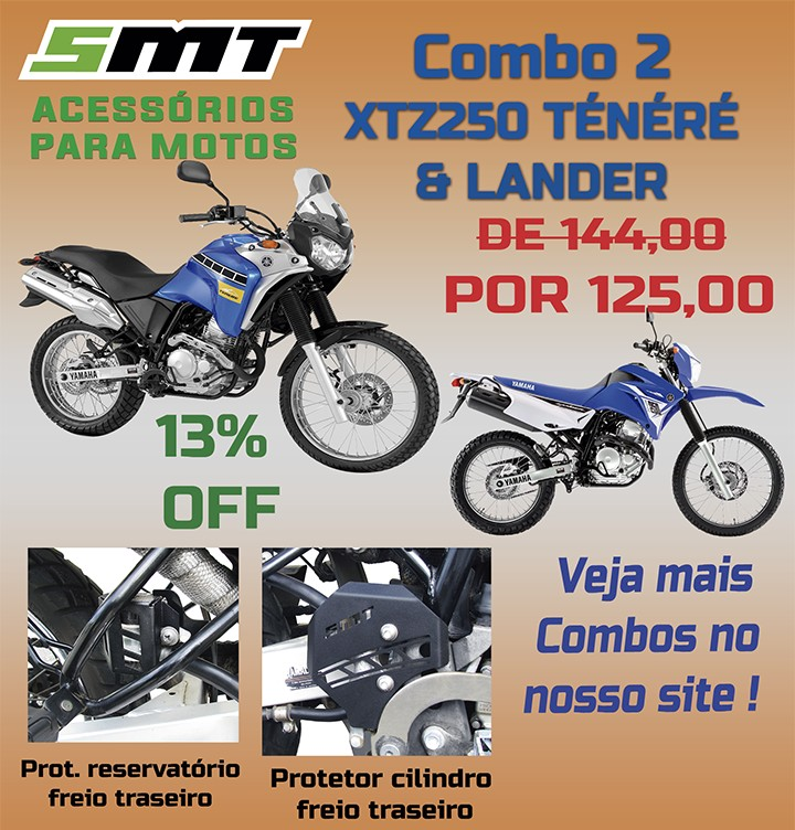 Imagem do produto COMBO#2 - YAMAHA XTZ 250 TÉNÉRÉ LANDER