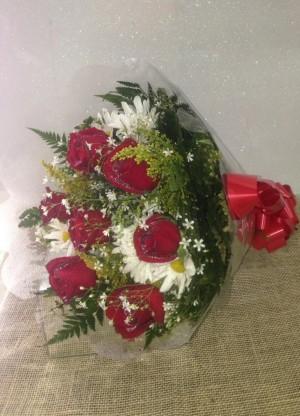 Foto1 - Buquê 06 Rosas Nacionais